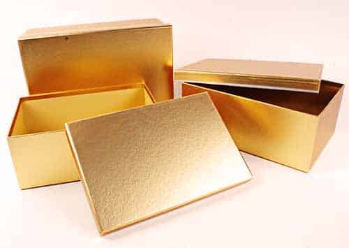 Golden Metalized Boxes for Gifts