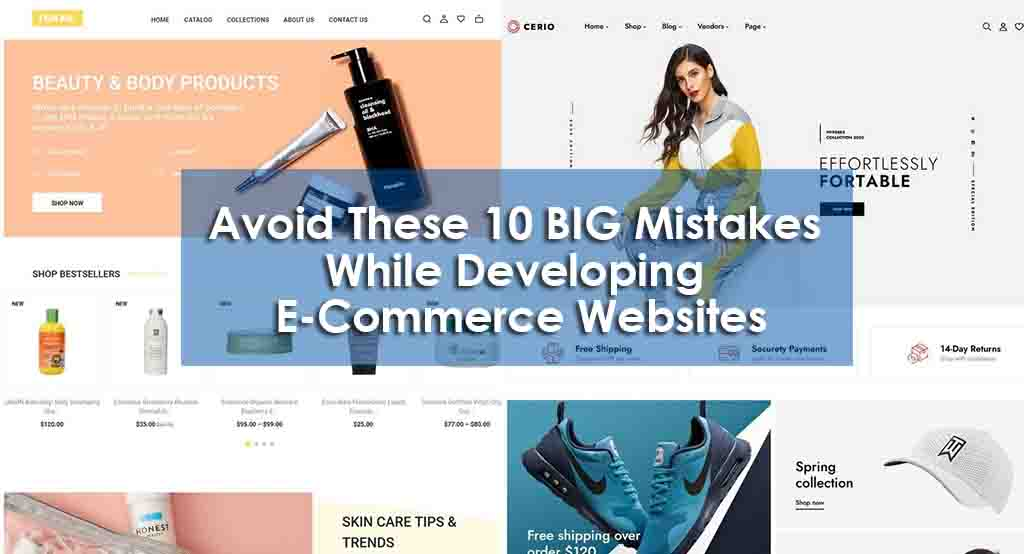avoid 10 mistakes while creating E-Commerce website