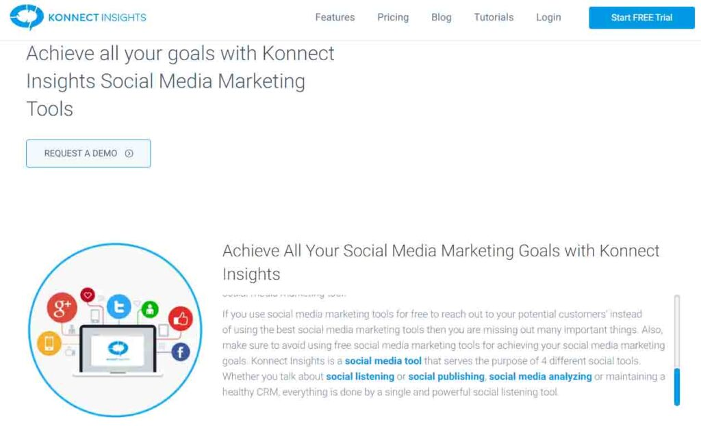 Konnect Insights Tool Interface